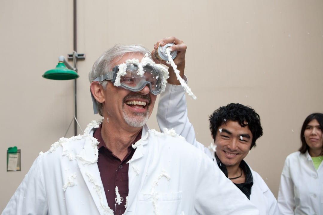 Students prepare Evans for contamination simulation