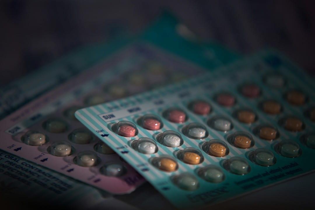 Birth control pill blister packs