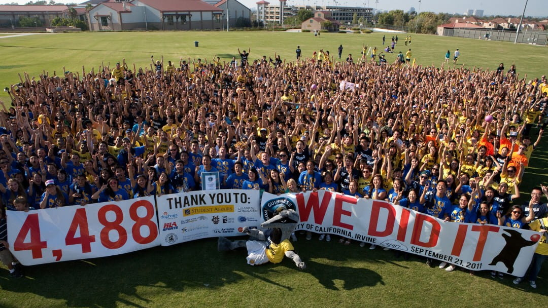 The 4,488 players of the world record dodgeball game