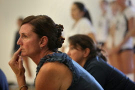 UCI women's volleyball coach Paula Weishoff