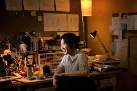 Sheryl Liu in her drama design lab space