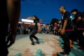 Dance Crews outside during Shocktoberfest