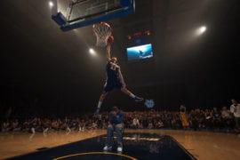 Daman Starring dunking during Shocktoberfest
