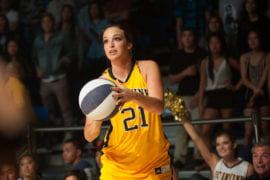 Lauren Spinazze attempts a three-pointer