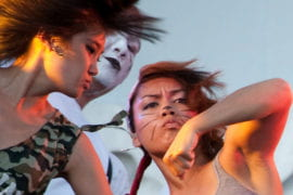 Dance crew performing at Shocktoberfest