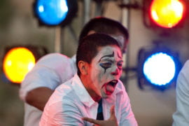 Student dance crew performing