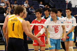 UC Irvine men's volleyball team against Beijing