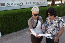 Gail Taylor meets with adviser Ulrike Strasser