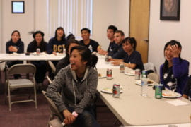 UCI students enjoy a farewell dinner