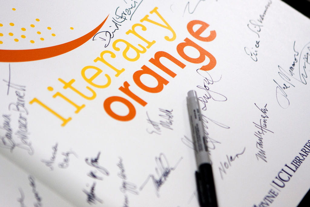 Literary Orange Graphic signed by participating authors