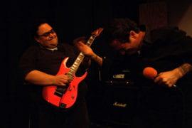 Marco Angulo playing guitar