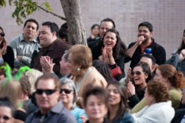 Family and friends of Angulo applaud