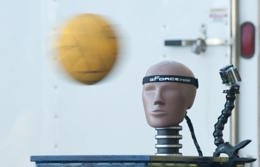 A crash test dummy for a water polo concussion study
