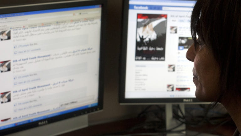 Tracking social media's role in Egyptian uprising