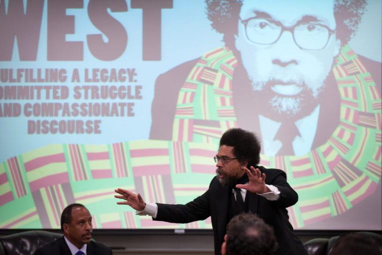 Cornel West discusses student activism at UCI