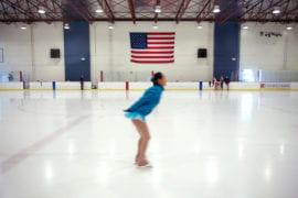 Zhou on the ice
