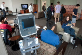 Medical students prepare to take their vital signs test
