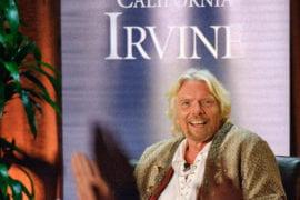 Sir Richard Branson speaks at Living Peace Series