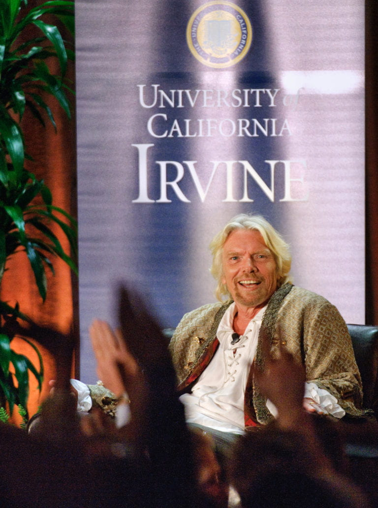 Sir Richard Branson speaks at Living Peace Series