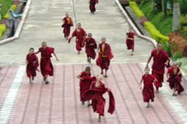 UCI group tours India, meets Dalai Lama