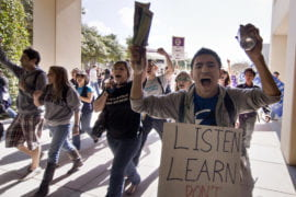 Students march on Ring Mall