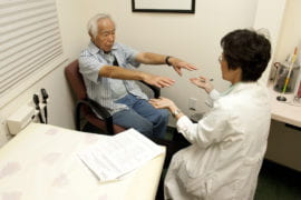 Hayashi undergoes neurological testing by Dr. Thai.