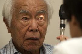 Dr. Gaby Thai, a neurologist, examines Hayashi at Gottschalk Medical Plaza