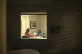 Hayashi is put through his paces during two hours of neuropsychological testing by psychometrist Susan Randhawa