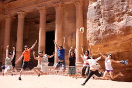 Olive Tree Initiative students in front of Petra