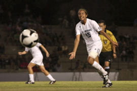 Women's soccer star plays on world stage