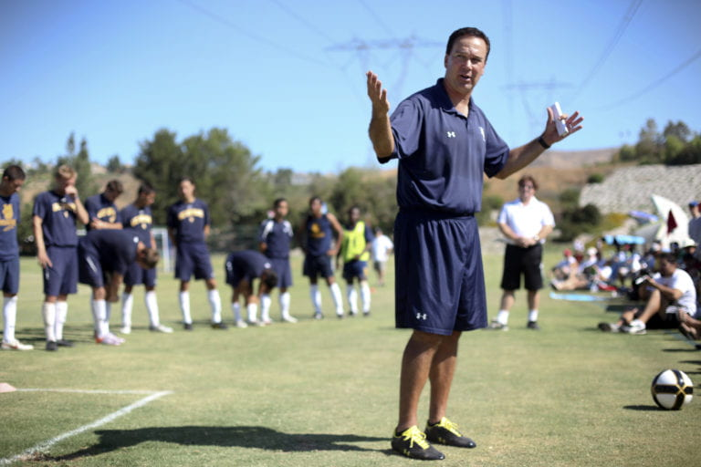 Soccer coach is goal-oriented
