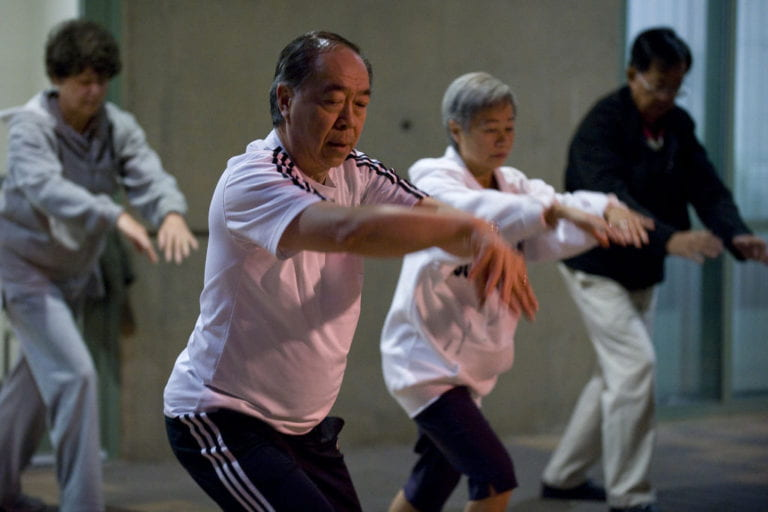 Tai chi expert goes with the flow
