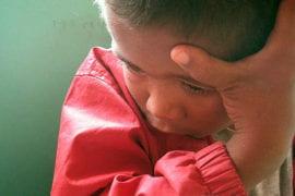 A shy child