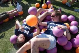 World-record dodgeball game