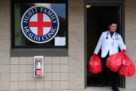 Jeremy Song removes medical waste