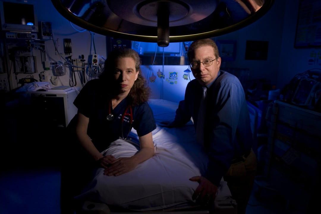 UCI doctors Kristi L. Koenig and Carl H. Schultz
