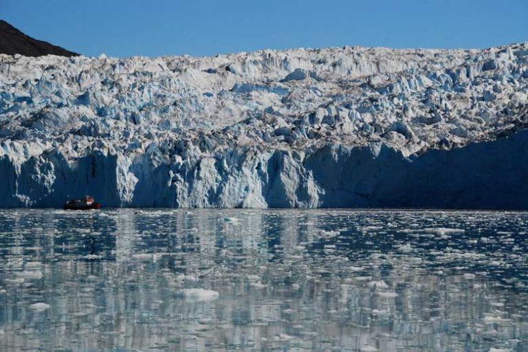 Warmer ocean speeding Greenland glacier melt