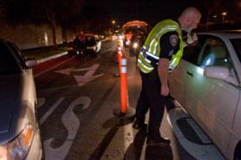 Officer at the DUI Checkpoint