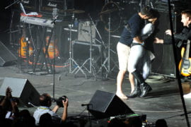 UCI student Christine Khuat is surprised by an on-stage marriage proposal.