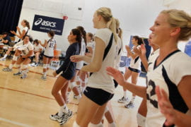 UCI women's volleyball team
