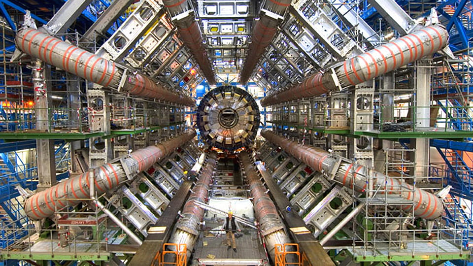 ATLAS, one of several detectors positioned along the Large Hadron Collider, on the outskirts of Geneva.