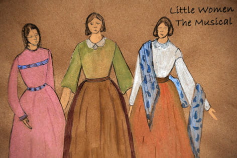 "Costume drawings for ""Little Women"" production"