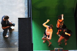 Undergraduate Choreography students try out Dance-IT