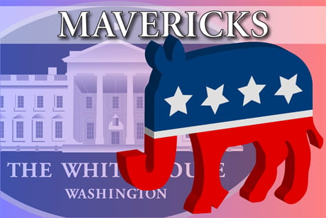 """Mavericks"" on top of the white house seal"