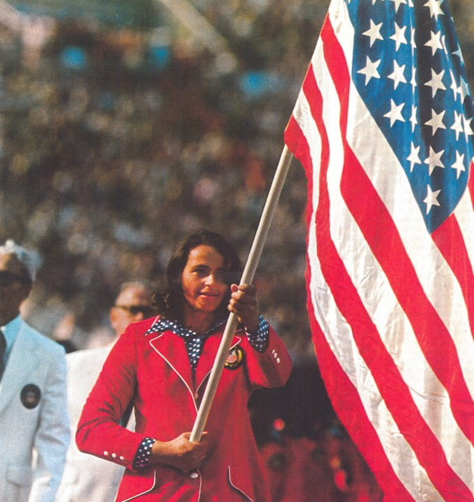 At the opening ceremony of the 1972 Olympics in Munich, Olga became the first woman to carry the American flag for the U.S. team.