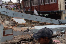 Devastation in Nepal followed an earthquake measuring 7.8 on the Richter scale