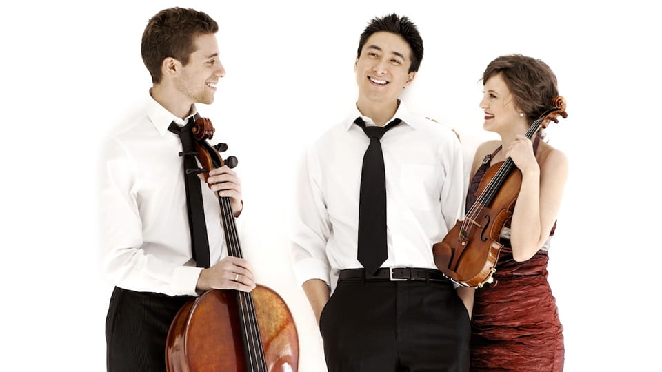 Pianist Kevin Kwan Loucks, and his wife, violinist Iryna Krechkovsky, joined with cellist Ross Gasworth