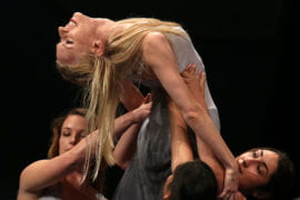 Dancers perform during the combined commencement ceremony for the Claire Trevor School of the Arts, the School of Education and the School of Physical Sciences
