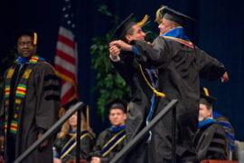 Civil & environmental engineering grads Cesar Carrillo and Bryan Elenes