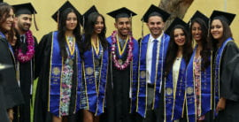 Graduates from the Francisco J. Ayala School of Biological Sciences pose for photos